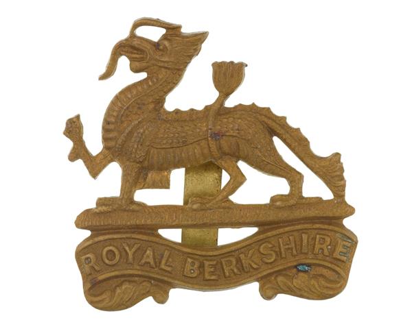 Cap badge, The Royal Berkshire Regiment (Princess Charlotte of Wales's), c1940