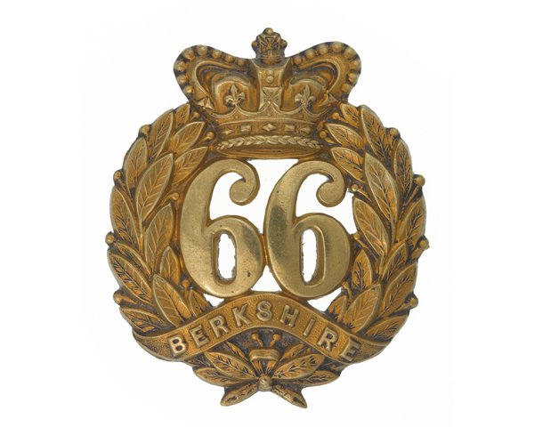 Other ranks' glengarry badge, 66th (Berkshire) Regiment of Foot, c1874