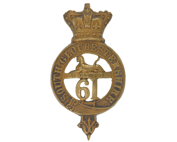 Glengarry badge, 61st (South Gloucestershire) Regiment of Foot, c1874