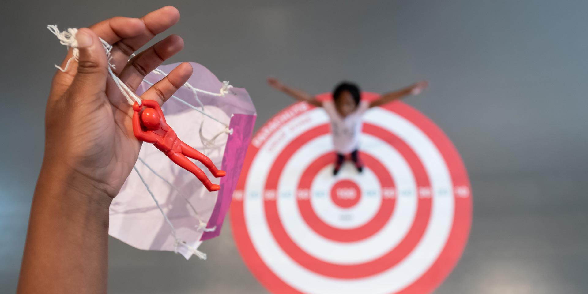 'Target practice: Parachutes' workshop