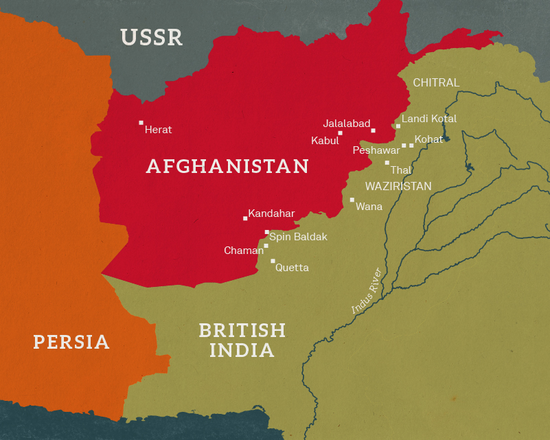 Map of Afghanistan and the North West Frontier, 1919