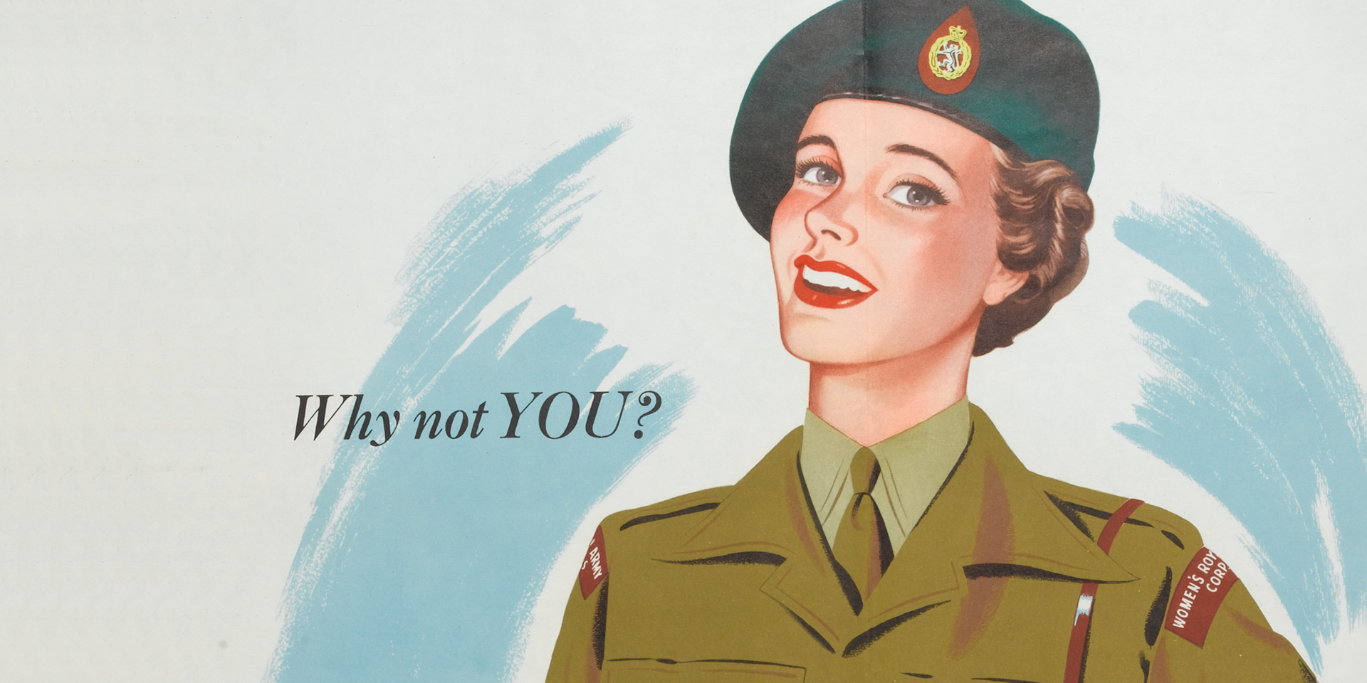Women's Royal Army Corps recruiting poster, c1950