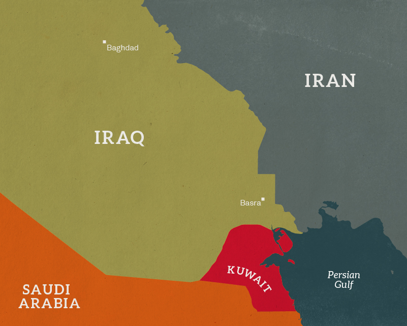 Map of the Persian Gulf, c1990