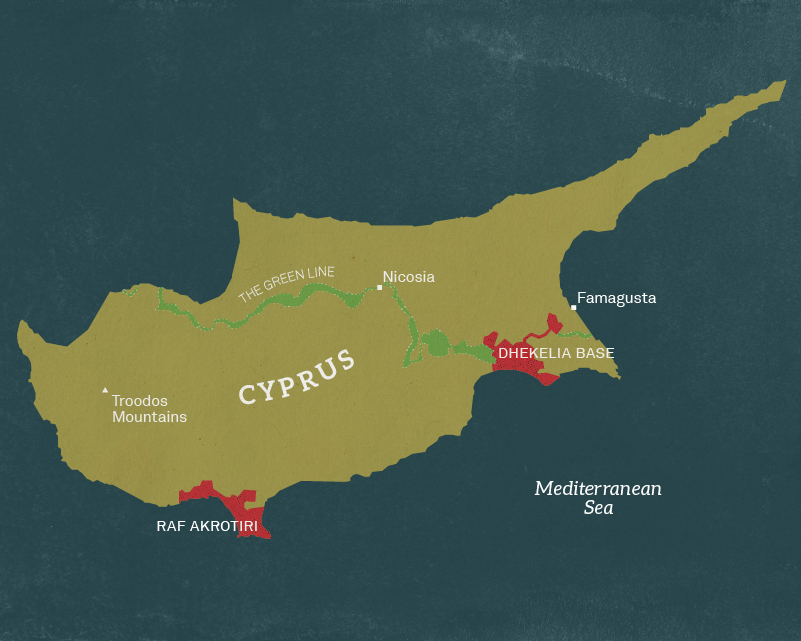 Map of Cyprus, 1963