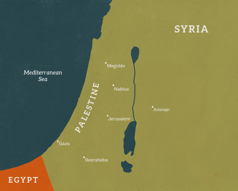 ​Map of Palestine campaign, 1918  ​