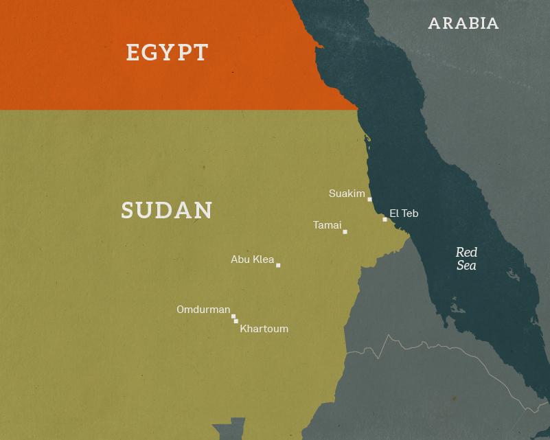Map of the Sudan, 1884