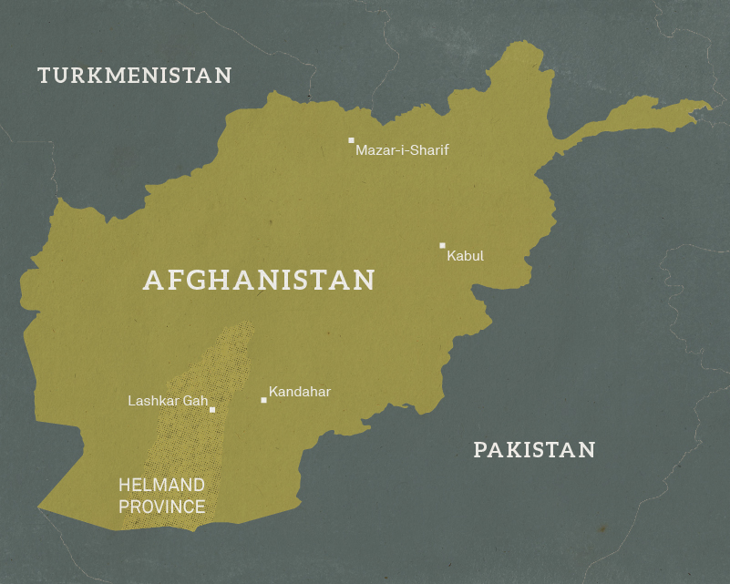Map of Afghanistan, 2004