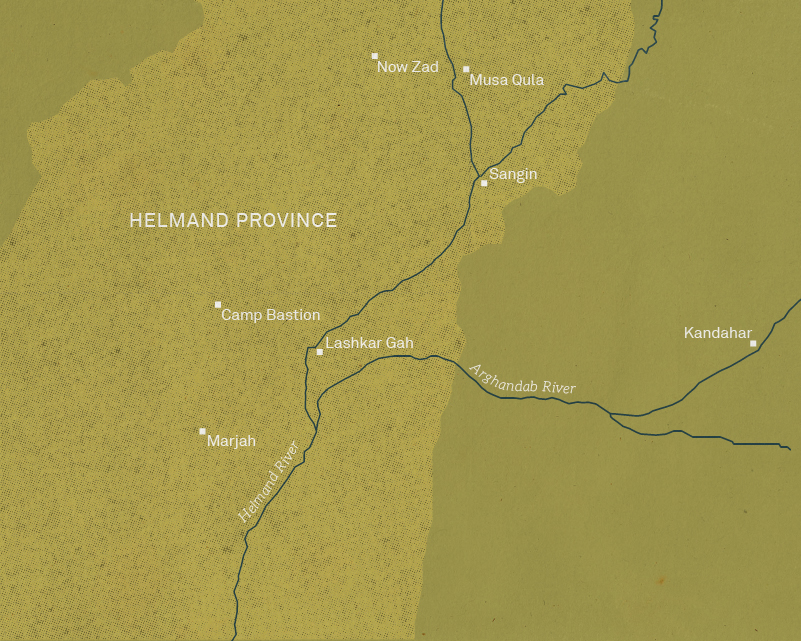 Map of Helmand Province, 2004