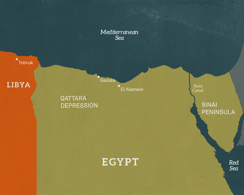 Map of Egypt, 1942