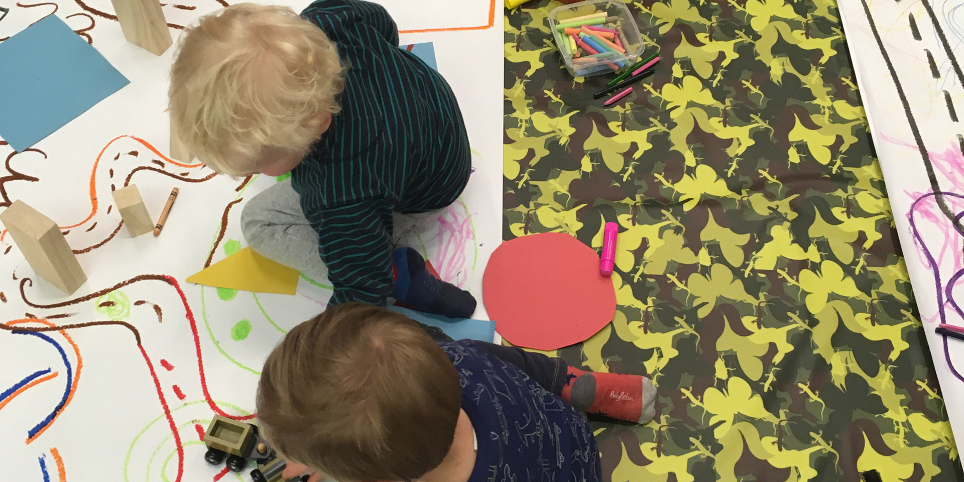 Toddlers getting creative at the National Army Museum