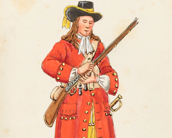 A musketeer of the 28th Regiment, 1694