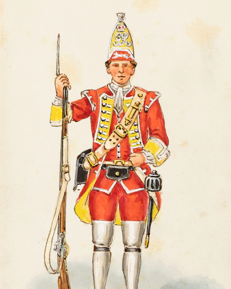 A grenadier of the 28th Regiment of Foot, 1759