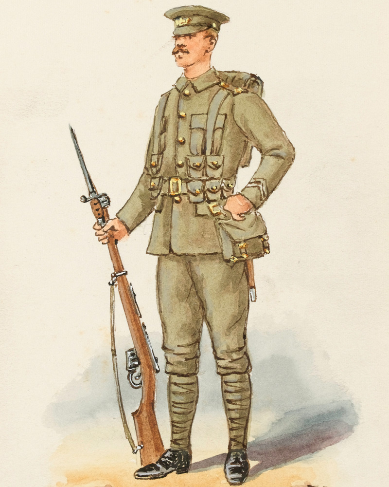 A private of The Gloucestershire Regiment, 1915