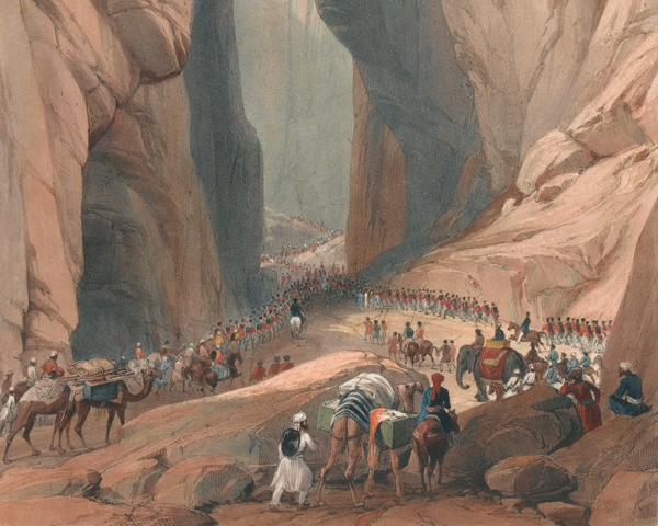 The Army of the Indus forcing the Bolan Pass, 1839