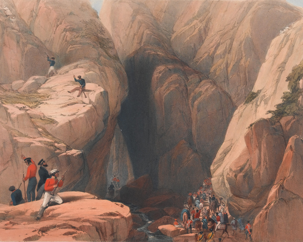 Part of the Army of the Indus in the Khojak Pass, 1839