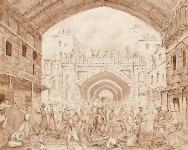 The sacking of the Kabul bazaar, 1842