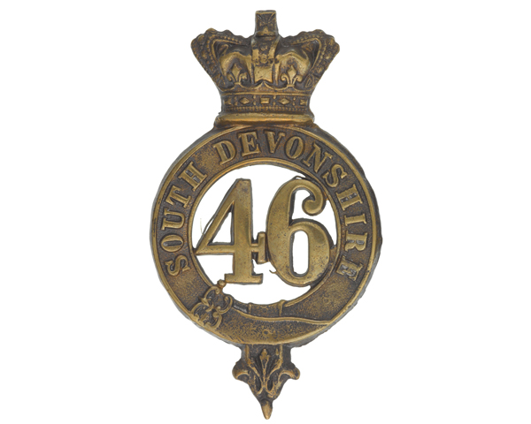 Glengarry badge, 46th (South Devonshire) Regiment, c1874