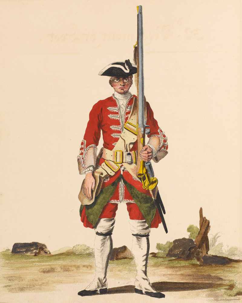 A private of the 32nd Regiment, c1742