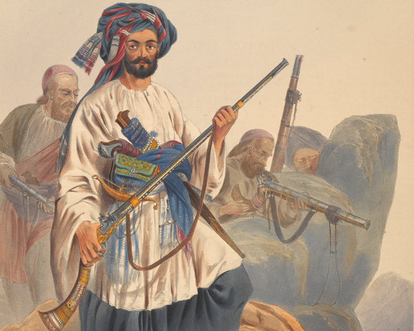 Afghan warriors from Kohistan, c1840