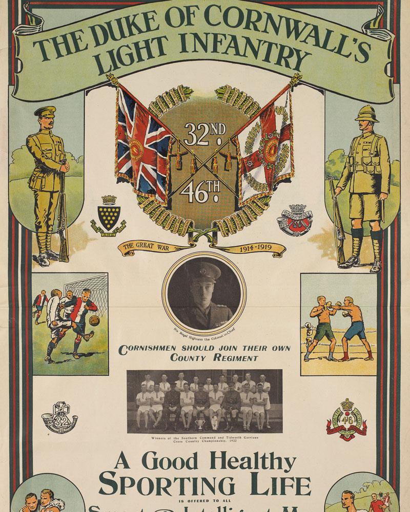 Recruitment poster, The Duke of Cornwall's Light Infantry, 1923