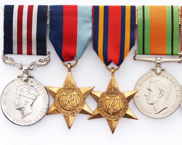 Military Medal group awarded to Private G Hadfield, 10th Battalion The Gloucestershire Regiment, 1945