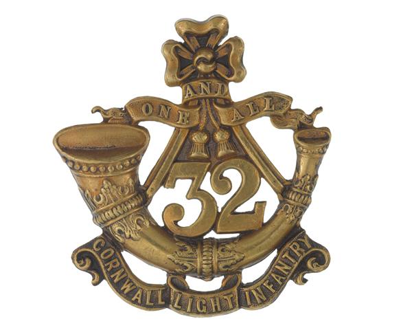 Glengarry badge, 32nd (Cornwall) Light Infantry, c1874
