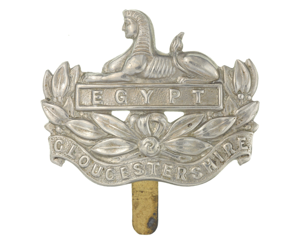 Cap badge, The Gloucestershire Regiment, c1930