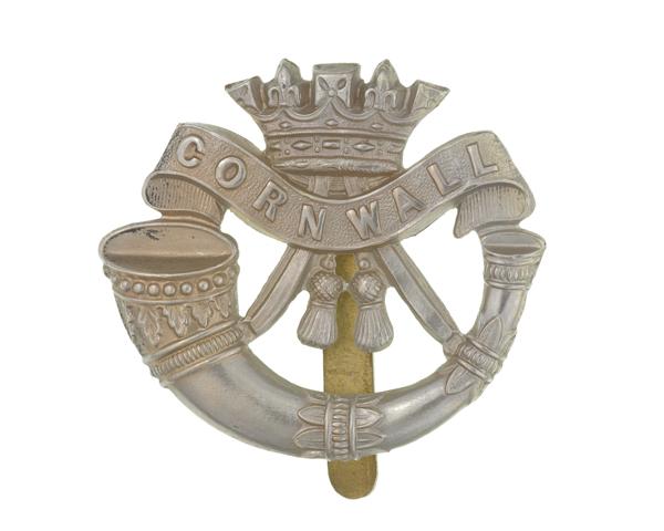Cap badge, The Duke of Cornwall's Light Infantry, c1914
