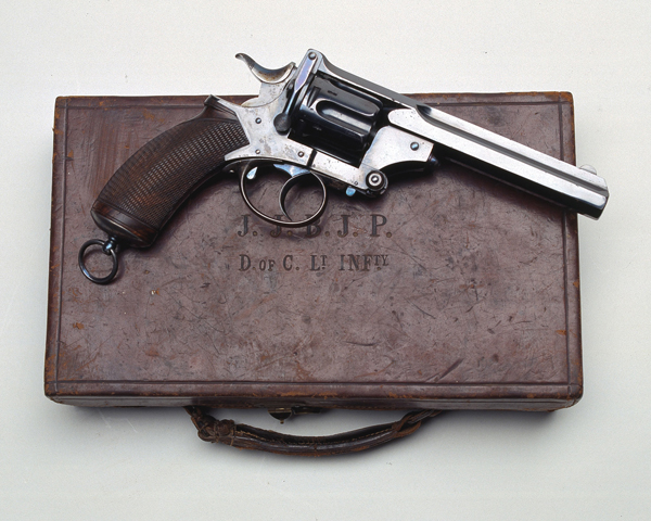 Webley-Pryse revolver of Lieutenant James Parry, The Duke of Cornwall's Light Infantry, 1882