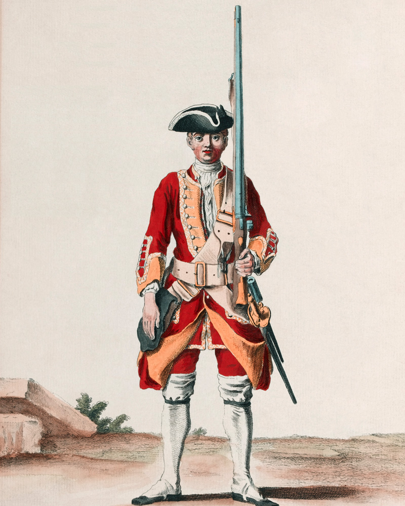 A soldier of the 13th Regiment, c1742