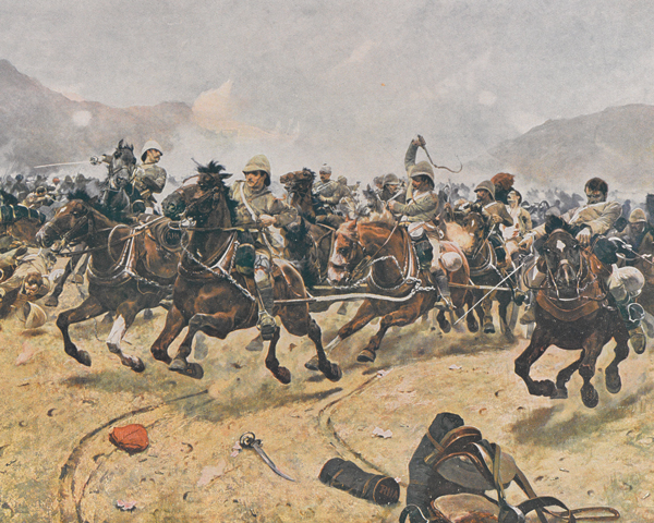 Saving the guns at Maiwand, 1880