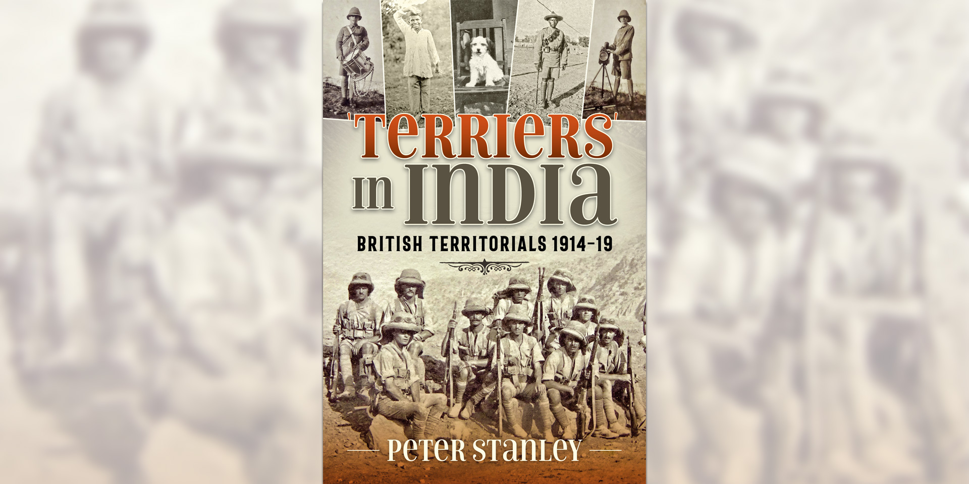 "'""Terriers"" in India: British Territorials, 1914-19' book cover"