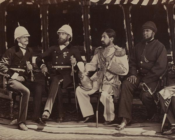 Major Pierre Louis Napoleon Cavagnari and Amir Yakub Khan, 1878