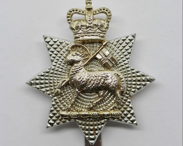 Collar badge, The Queen's Royal Surrey Regiment, 1961