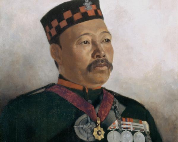 Subadar Major Judbhir Thapa, 2nd Gurkha Rifles, 1893