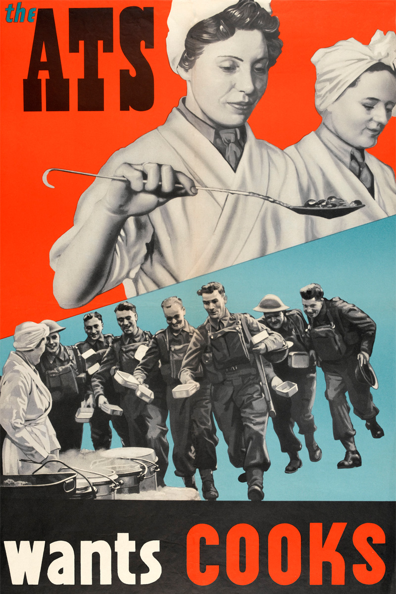 'The ATS wants cooks', recruiting poster, c1940
