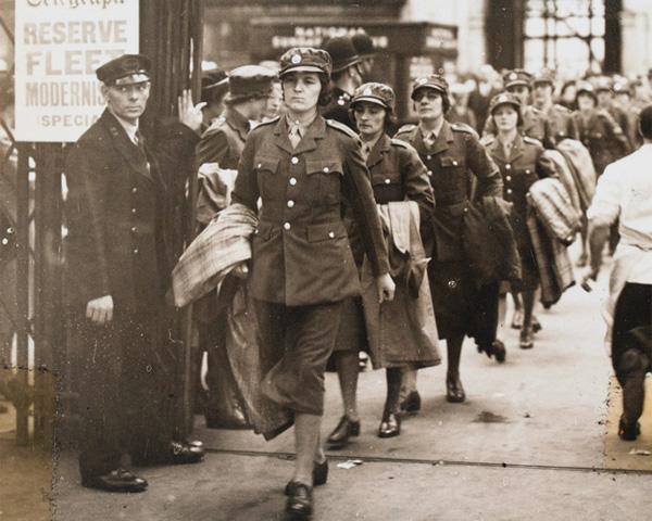 ATS recruits en route to Cowshot Manor Camp, Brookwood in Surrey, c1940