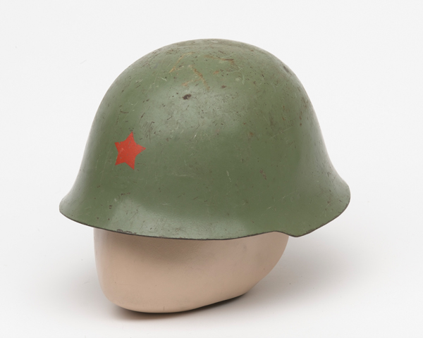 Helmet used by the Kosovo Liberation Army, c1999