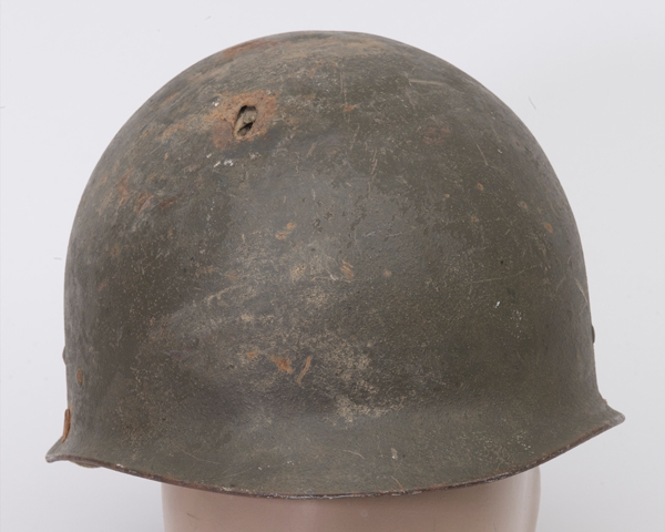 Helmet worn by a member of the Bosnian forces, c1995