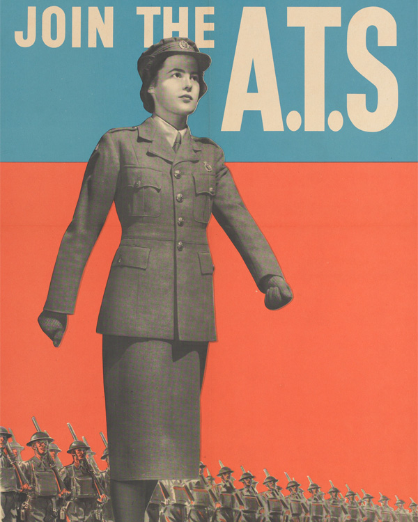 'You are wanted too! Join the ATS', recruiting poster, c1941