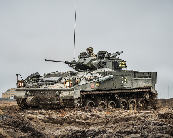 A Warrior infantry fighting vehicle, 'Exercise Black Eagle', Poland, 2014