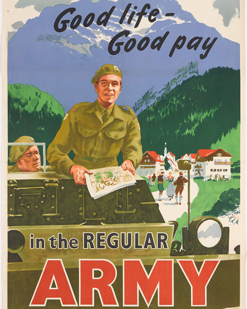 'Good life - Good pay in the Regular Army', c1955