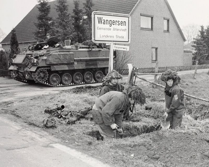 British troops taking part in NATO's Exercise Lionheart in Germany, 1984
