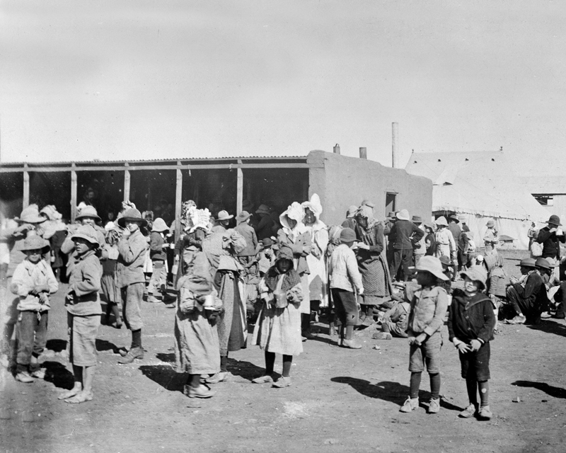 Boer women and children at a concentration camp, c1901