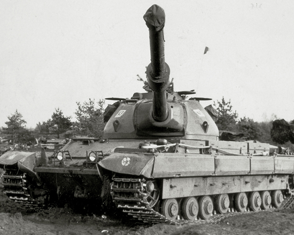 A Conqueror tank of 5th Royal Tank Regiment in Germany, c1960
