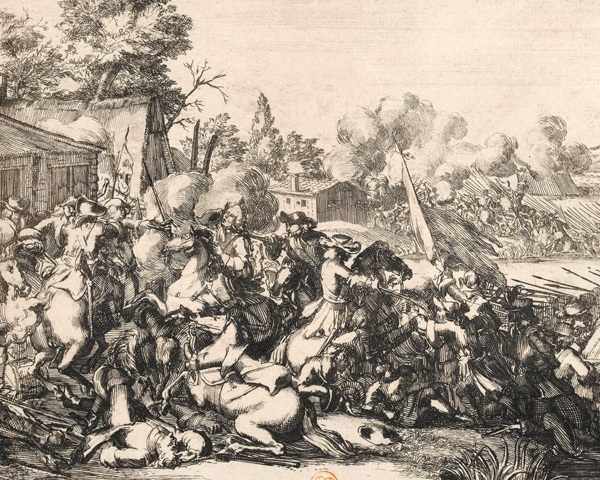 The death of the Duke of Schomberg at the Battle of the Boyne, 1690