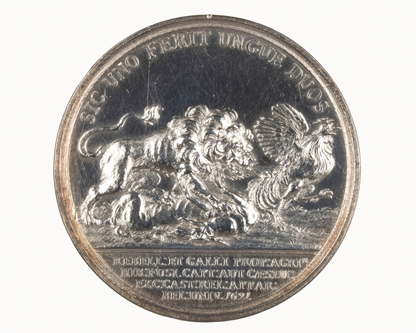 Medal commemorating the Battle of Aughrim, 1691