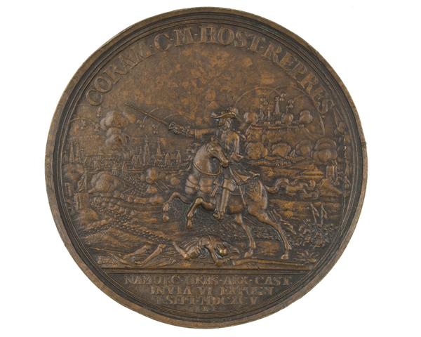Bronze medal commemorating the Siege of Namur, 1695