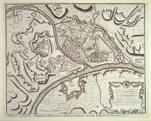 Namur with the castle and other fortifications, c1695
