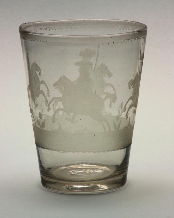 Glass beaker, c1690